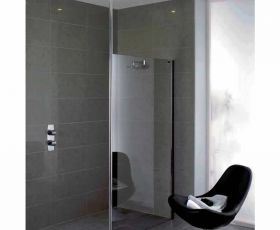 Showerlux Urban Chic Flat Wetroom Panel With Ceiling Support