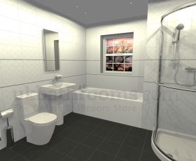 Veneto Basin, WC & Shower Suite