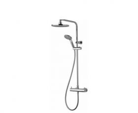 Aqualisa Dual Thermostatic Shower Mixer with Fixed and Adjustable Heads