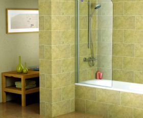 Showerlux Legacy Single Panel Bath Screen