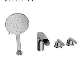 Vitra T4 4 Hole Bath Shower Mixer