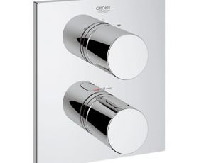 Grohe G3000 Cosmo Square Thermostatic Bath & Shower Mixer with Rapido T