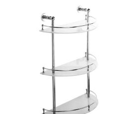 Bristan 1901 Three Tier Glass Shelf