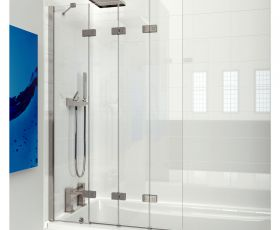 Kudos 4 Panel Compact Bath Screen