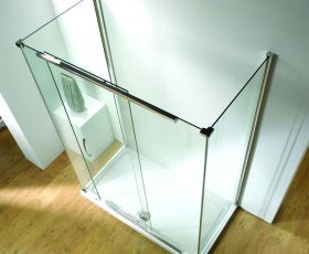 Kudos Infinite Straight Sliding Shower Door & Tray