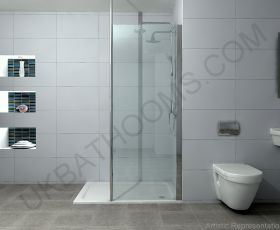 Rho Complete Walk in Shower Pack 1200 x 800mm