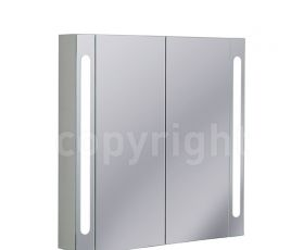 Bauhaus 80 Mirrored Aluminium Wall Hung Cabinet