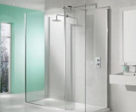 Manhattan M8 Cubicle Walk in Shower Enclosure Package With End Panel