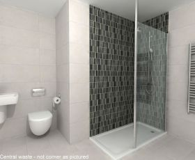 Rho Complete Walk in Shower Pack 1400 x 800mm