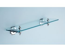 Silverdale 495mm Traditional Glass Shelf