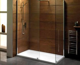 Mere Font 8mm Walk-in Shower Panel