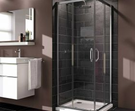 Huppe X1 Sliding Door Corner Entry Shower Enclosure