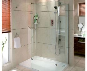 Aqata Spectra Walk-in Shower Enclosure with Hinged Panel SP446C (Corner)