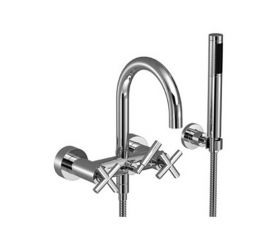 Dornbracht Tara Wall Mounted Bath Mixer with Shower Set