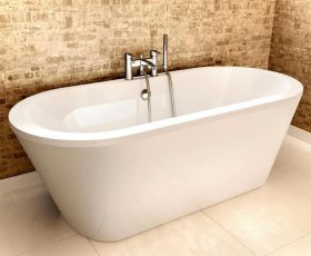 Cleargreen Freestart Double Ended Freestanding Acrylic Bath