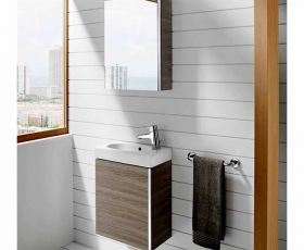 Roca Mini Vanity Unit with Mirrored Cabinet