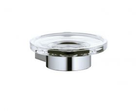 Keuco Plan Soap Holder - complete with crystal glass soap dish