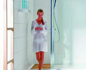 Matki Square Walk-in Recess Enclosure with Shower Kit