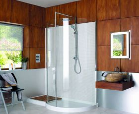 Matki Original Walk-in Curved Corner Shower Enclosure