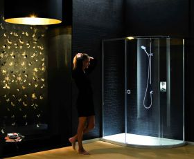 Matki New Radiance Curved Offset Shower Enclosure With Slimline Tray