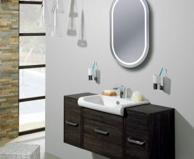Bauhaus Essence Backlit Oval Mirror
