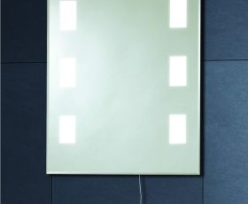 Phoenix 50x39cm Back Lit Bathroom Mirror