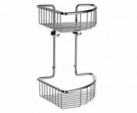 Smedbo Sideline Double Corner Soap Basket 207mm