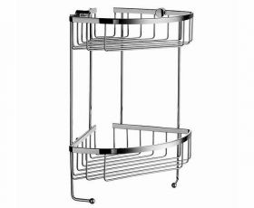 Smedbo Sideline Double Corner Soap Basket 195mm