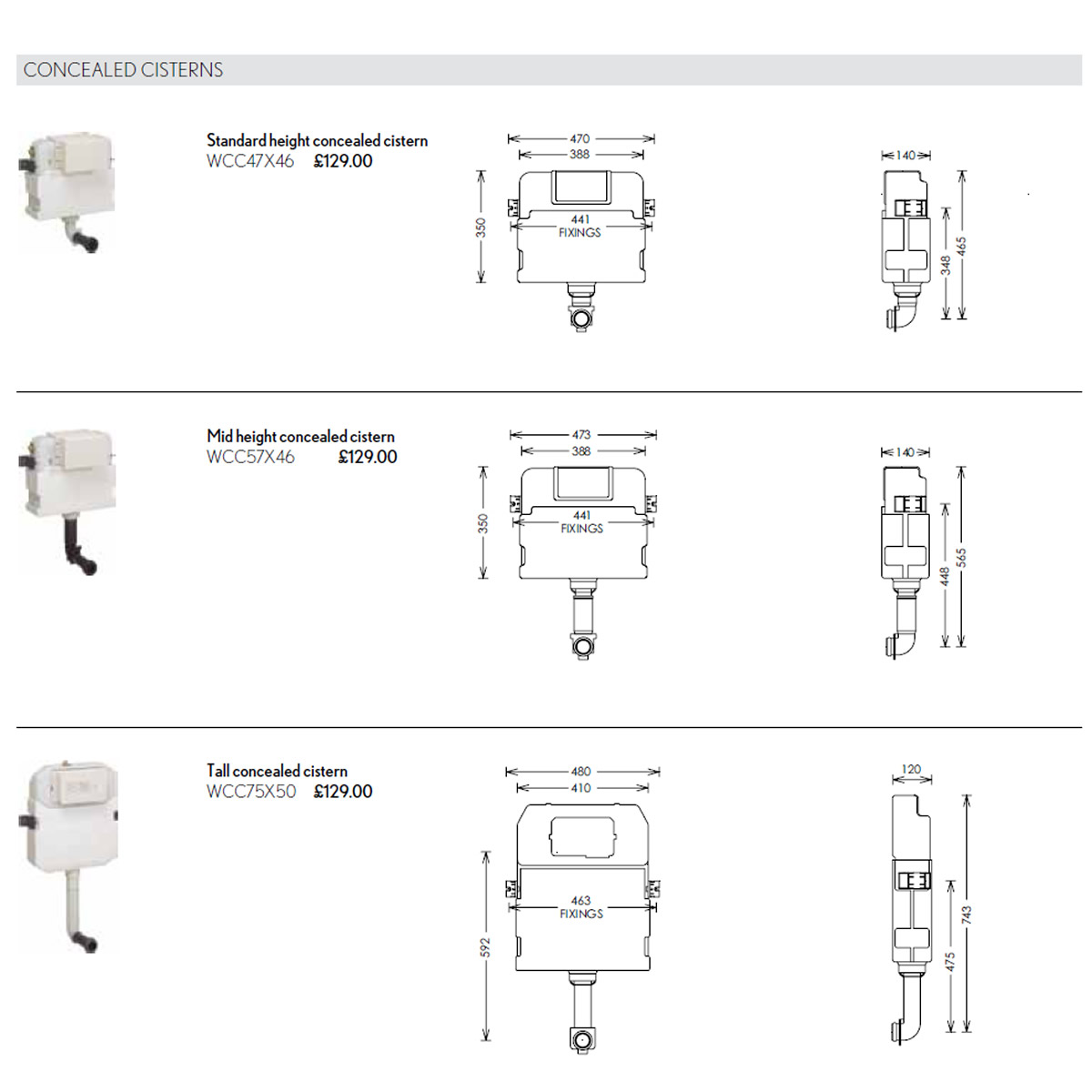 Bauhaus concealed cistern uk bathrooms 140mm deep for use with back to the wall toilets read more specifications pooptronica Image collections