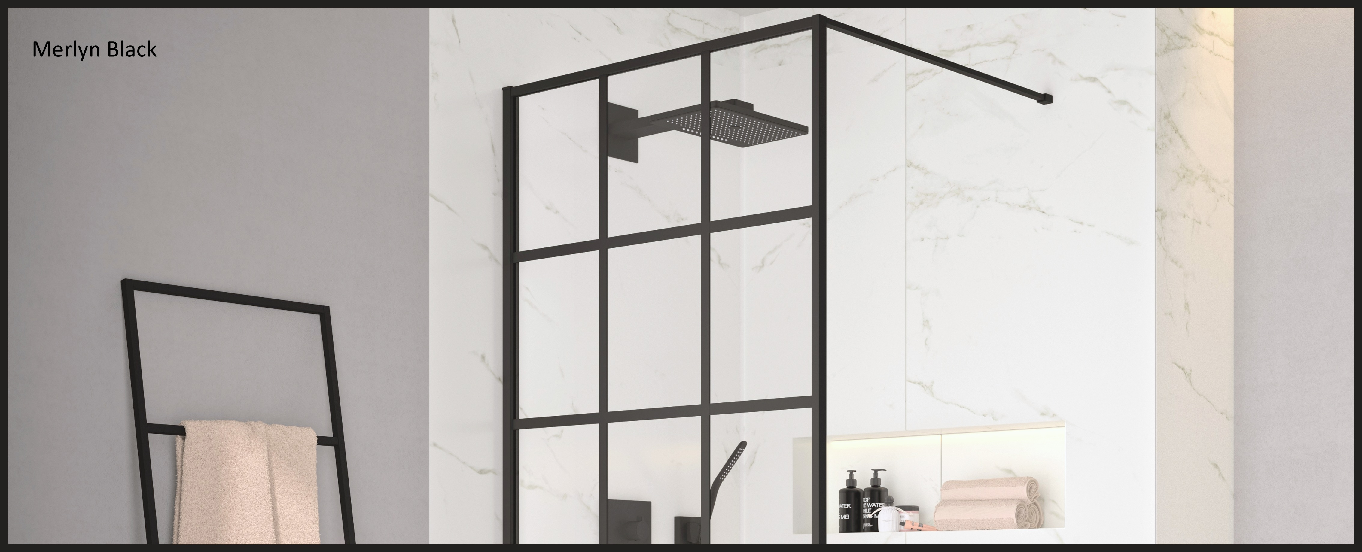 Merlyn Black Showers from UK Bathrooms