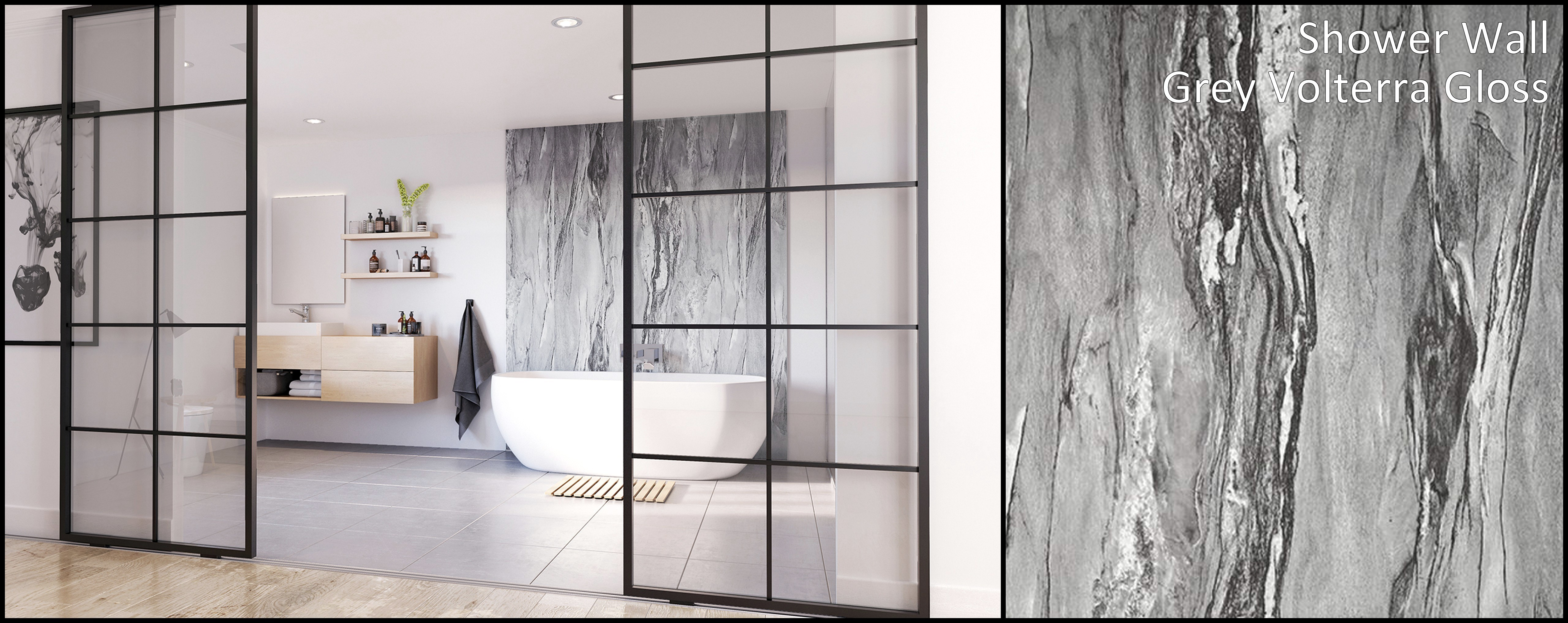 Showerwall marble wall panels