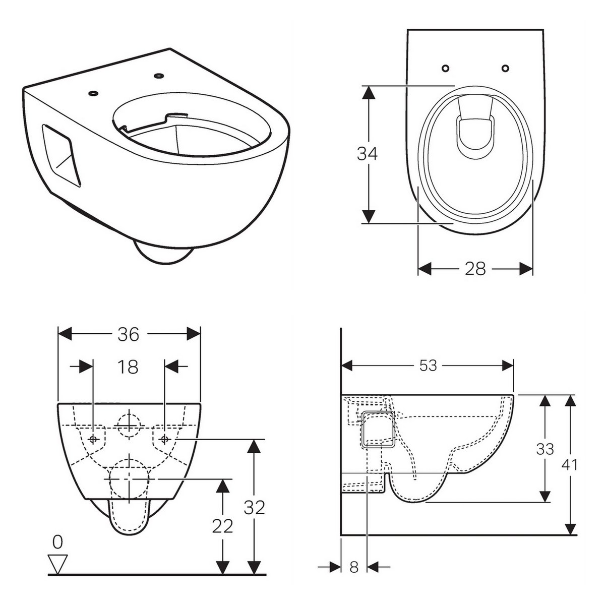 geberit smyle round rimfree wall hung toilet uk bathrooms. Black Bedroom Furniture Sets. Home Design Ideas