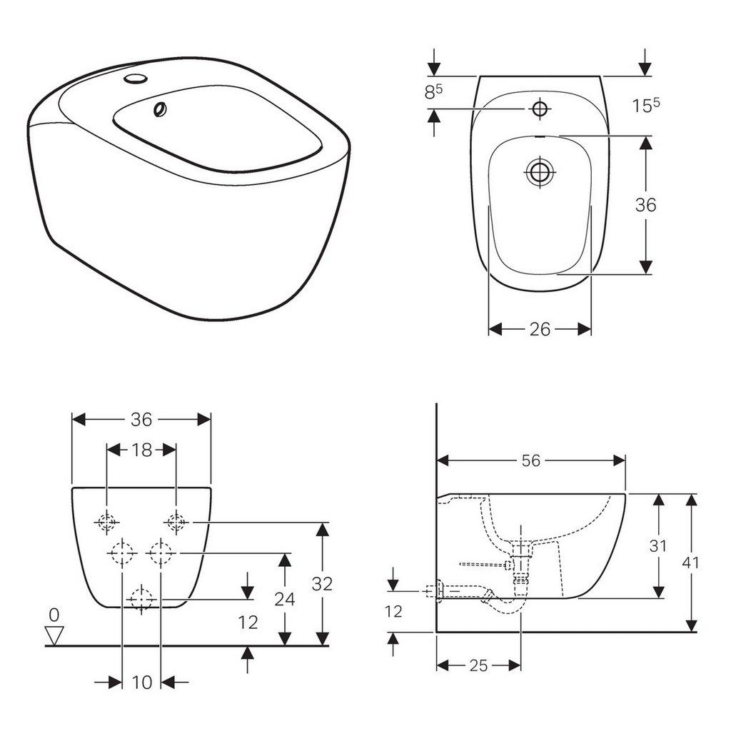Geberit Citterio Wall Hung Bidet Uk Bathrooms