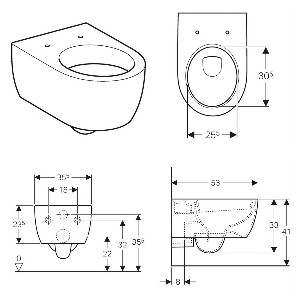 geberit icon wall hung toilet uk bathrooms. Black Bedroom Furniture Sets. Home Design Ideas