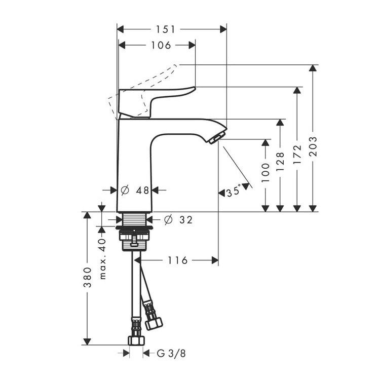 hansgrohe metris 110 basin mixer tap uk bathrooms. Black Bedroom Furniture Sets. Home Design Ideas