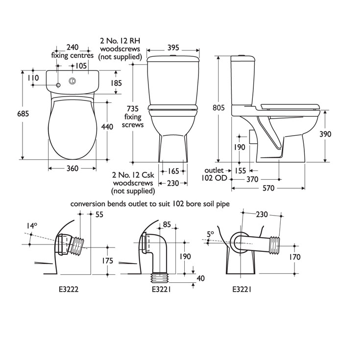 Ideal Standard Alto Close Coupled Toilet Uk Bathrooms