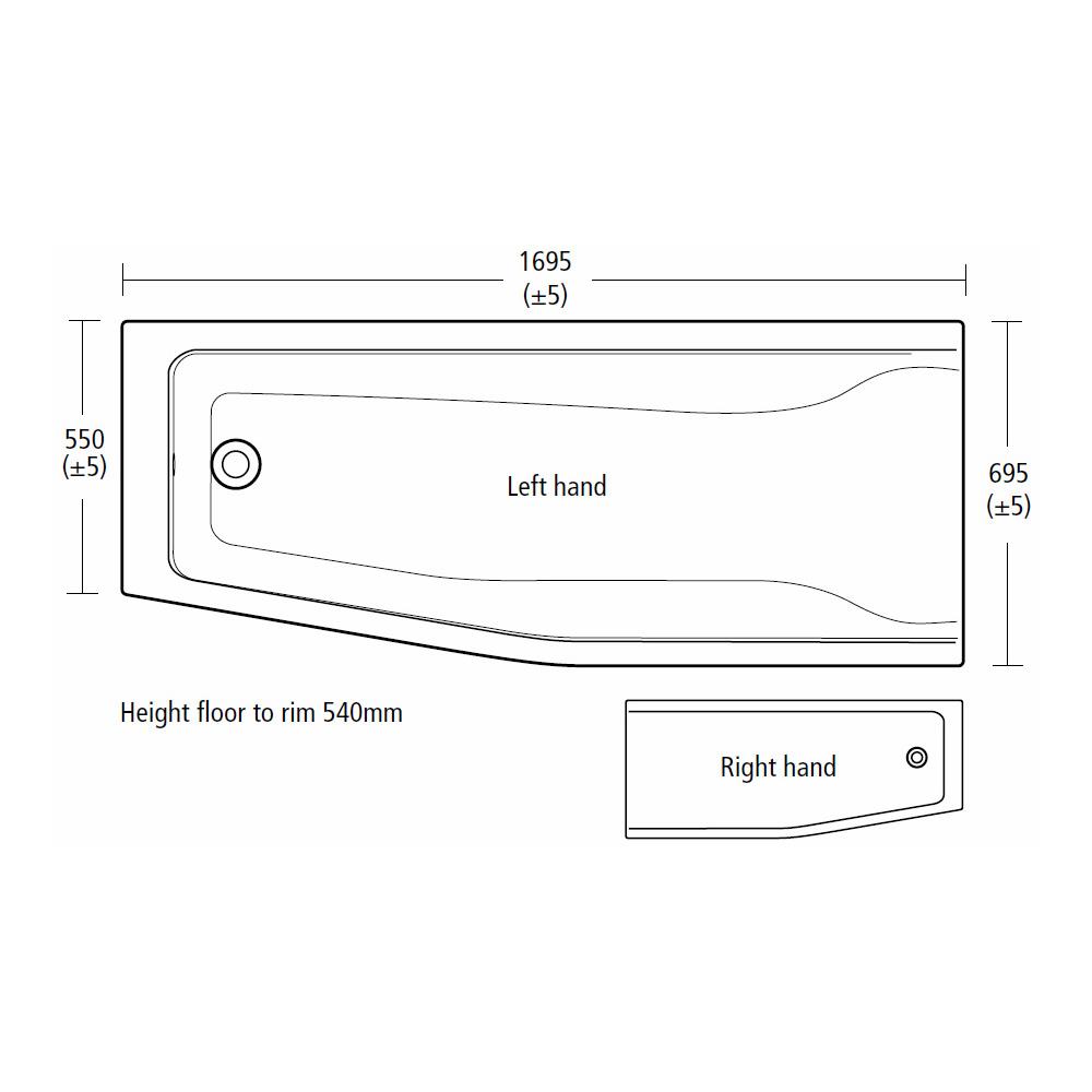 Ideal Standard Concept Idealform Spacemaker Bath Uk