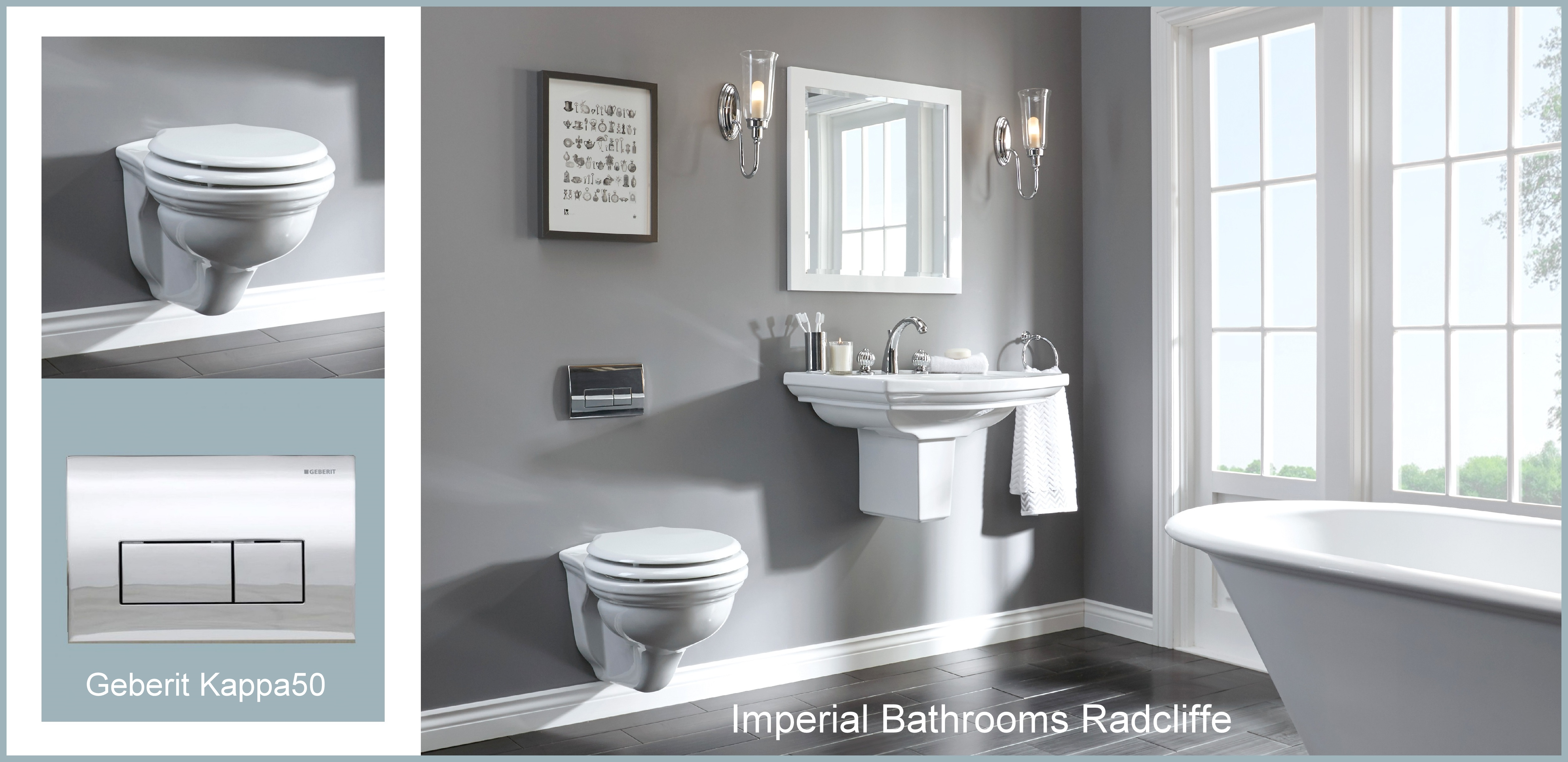 Imperial Bathrooms Radcliffe Wall Hung Toilet