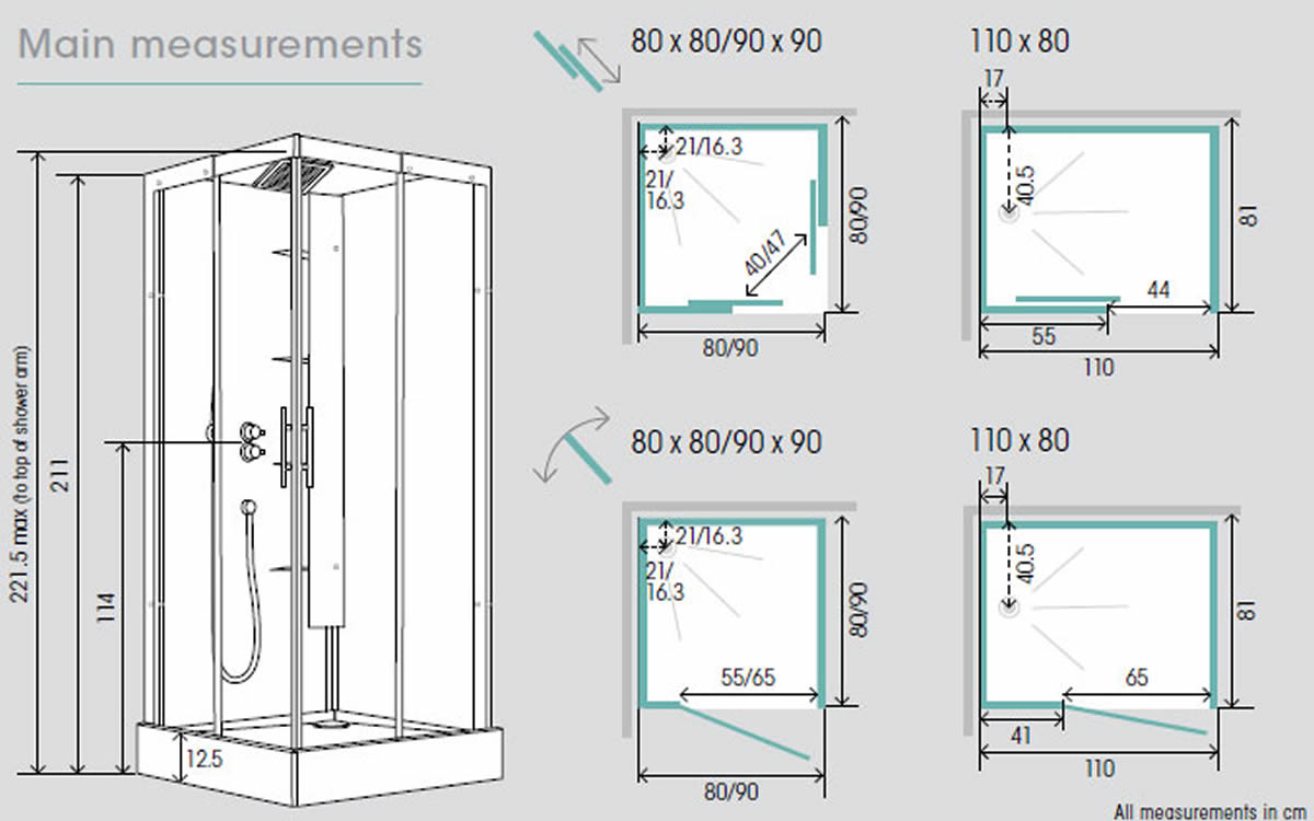 Shower Cubicle Dimensions. Strata 900 quadrant enclosure | The ...
