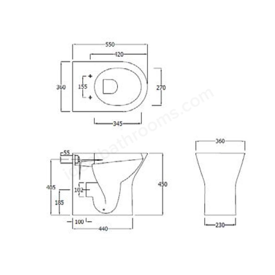 Origins Ivy Comfort Height Back To Wall Toilet Uk Bathrooms