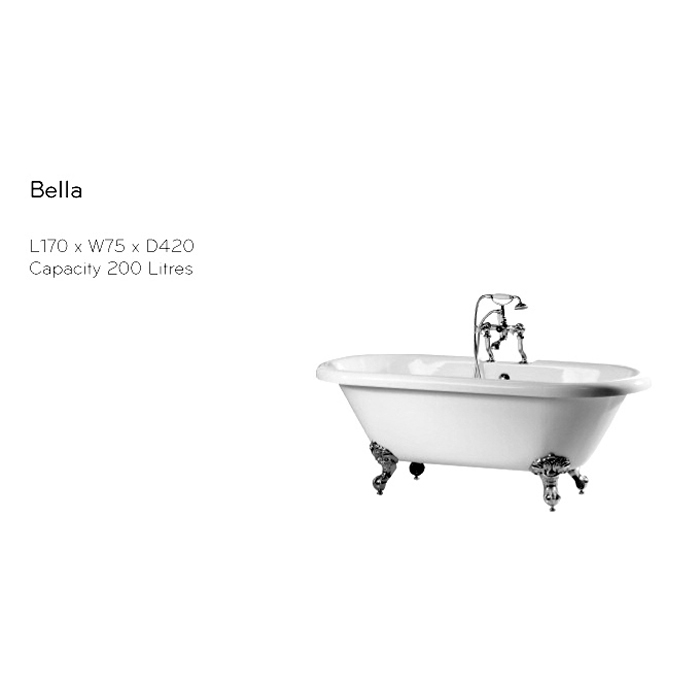 Phoenix Double Ended Roll Top Bath : UK Bathrooms