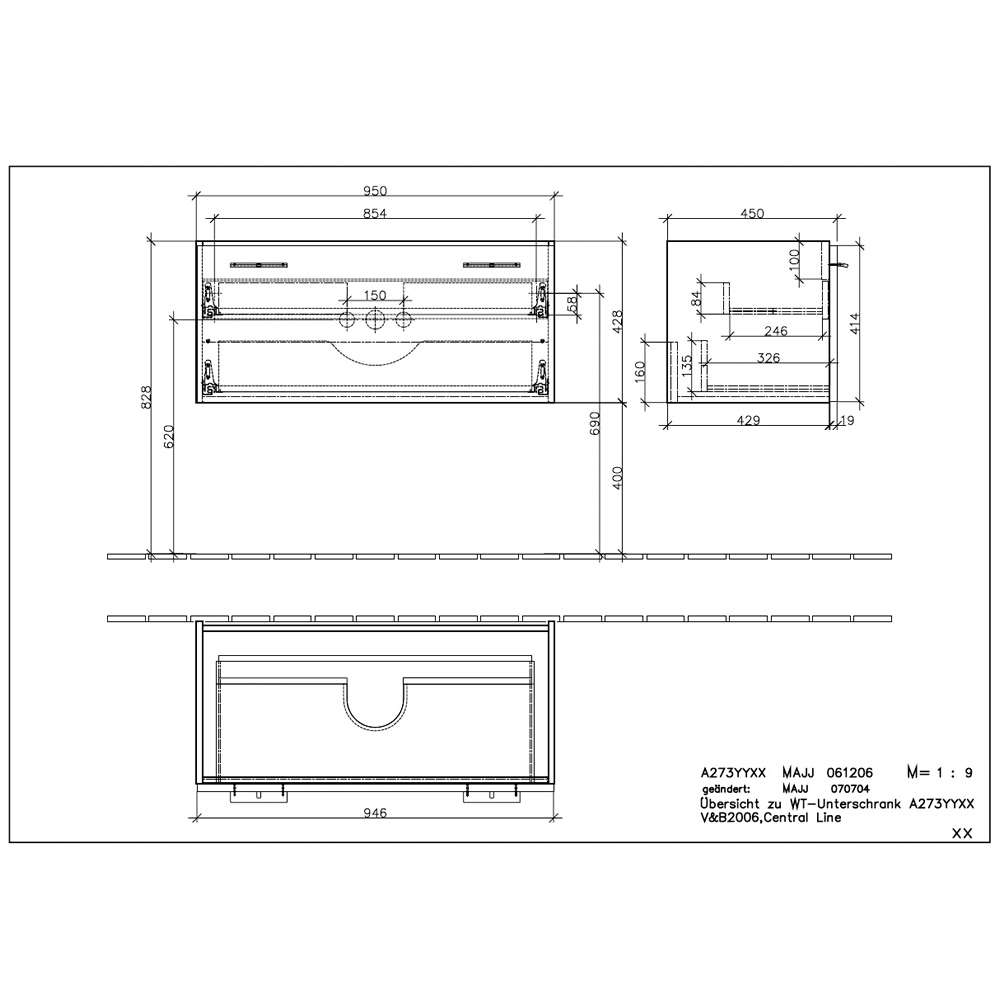 Villeroy boch central line bathroom unit a 273 ripon interiors