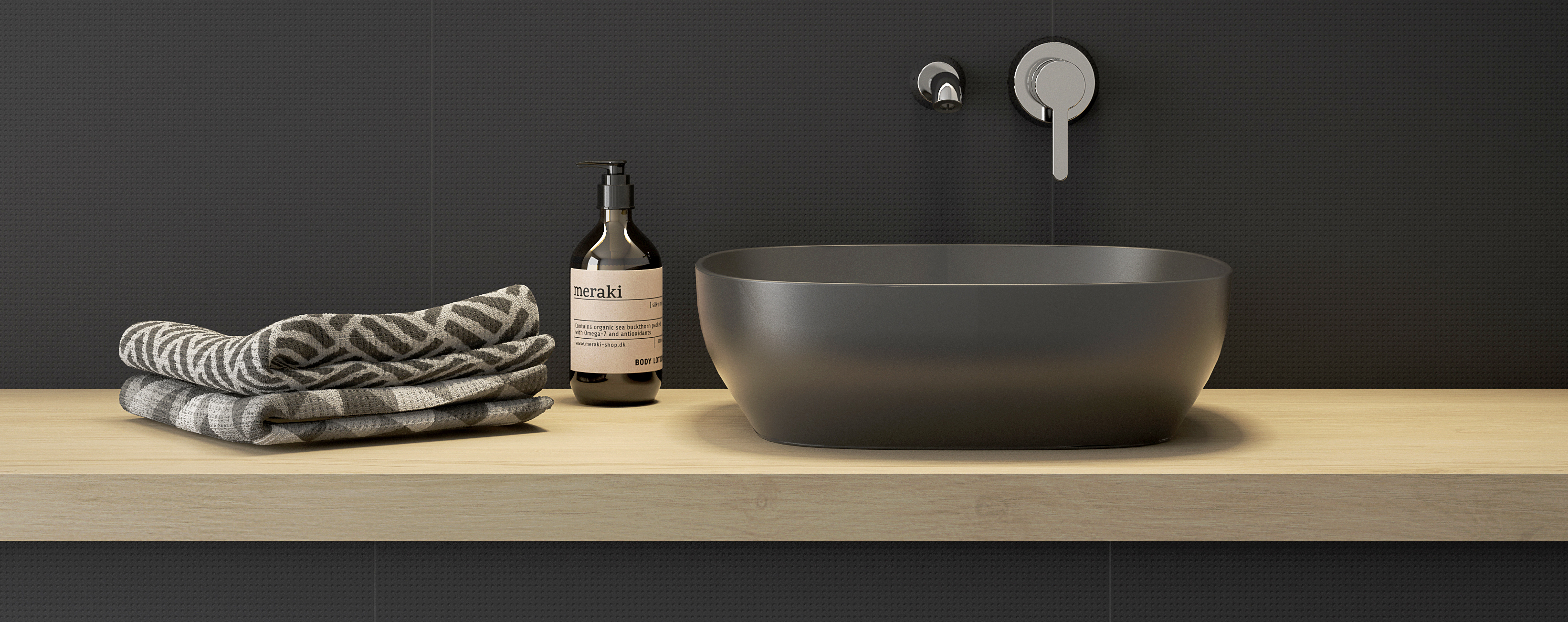 VitrA Outline black basin