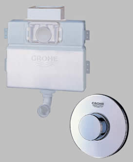 Grohe Concealed Cistern Dual Single Flush