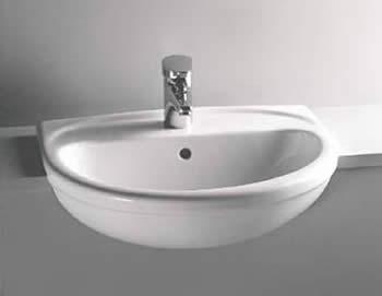Vitra S Line Semi Recessed Basin 58 X 48cm