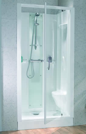 Product image for Kinedo Opus 100 x 80 Thermostatic Recess Cubicle