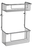 Product image for Smedbo Sideline Double Soap Basket (215 x 110mm, Height: 320mm)
