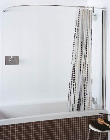 Chrome Shower Curtain Rail Uk - Window Curtains & Drapes