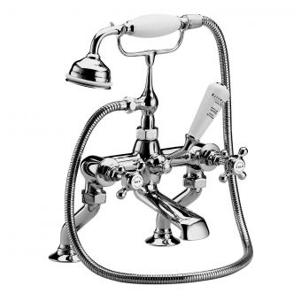 Bayswater Crosshead Deck  Mounted Bath Taps with Shower Handset