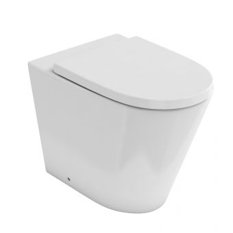 Britton Sphere Rimless Back to Wall Toilet - 15B27384